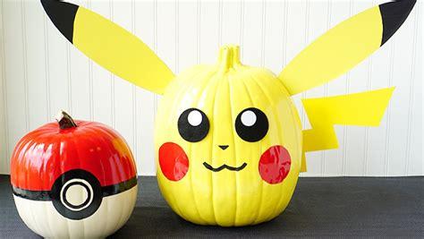 decoracion con calabazas calabazas decoradas de pokemon para halloween