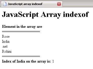 javascript tutorial roseindia javascript array length function