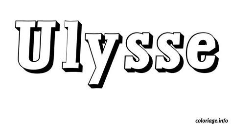 Coloriage Ulysse Dessin