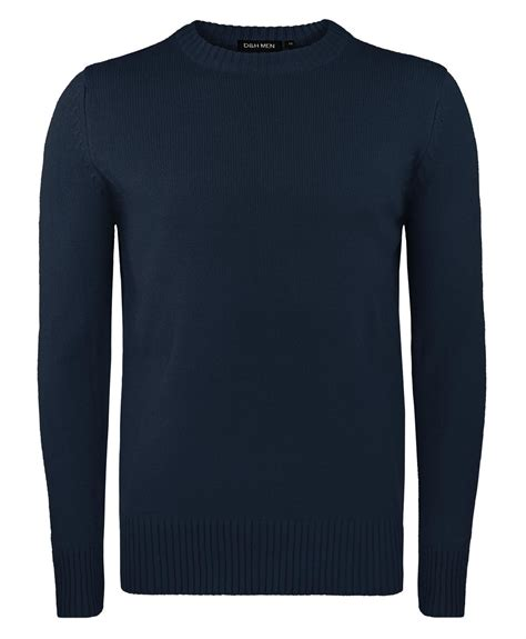 Ola Basic Knitted Crew Neck Top mens basic neck knitted jumper plain solid sweater