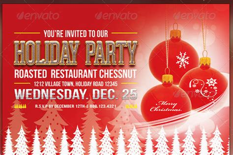 Holiday Office Party Flyer Template Free