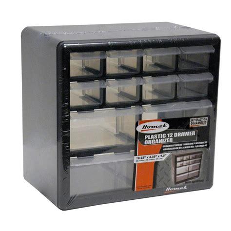 small 3 compartment homak 12 compartment non stackable small part organizer in