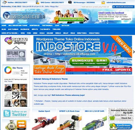 template toko online indostore template toko online wordpress indostore theme mania cms
