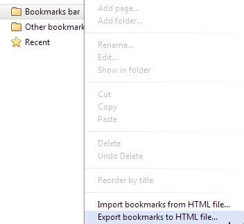 export google chrome bookmarks to an html file how to import or export bookmarks in google chrome