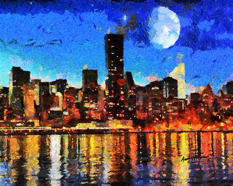 paint nite in nyc nyc skyline at painting by anthony caruso