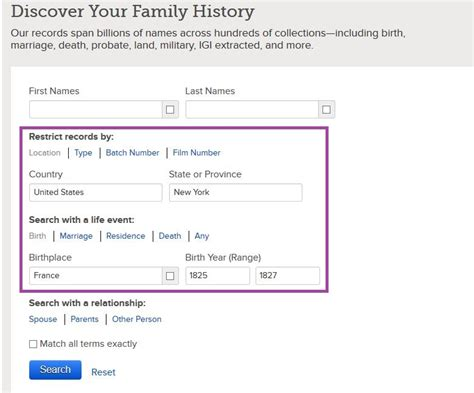 Family Search Org Records Familysearch My Family History Files