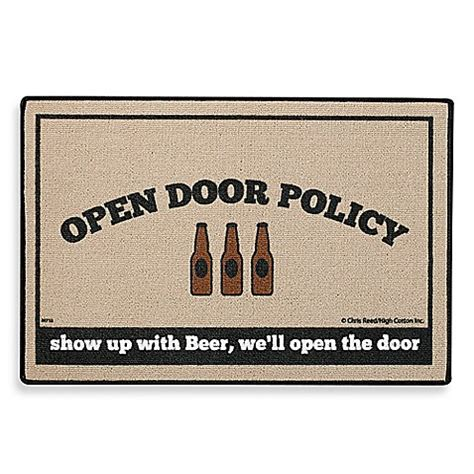 bed bath and beyond exchange policy open door policy beer door mat bed bath beyond