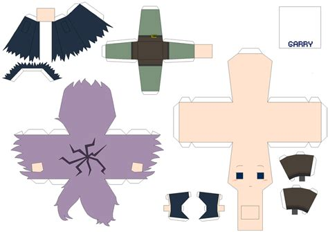 Papercraft Anime Templates - best photos of moving anime papercraft templates
