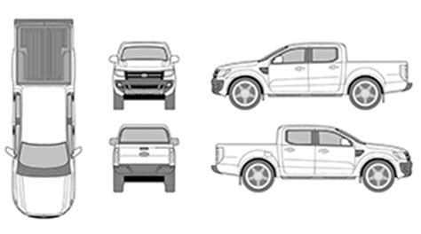 Ford Ranger Wrap Template Mr Clipart