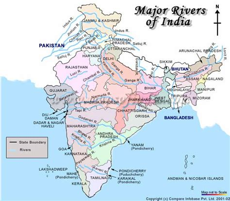 names of rivers india river map with names