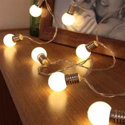 lightbulb string lights mini festoon bulb battery lights 10 warm white leds