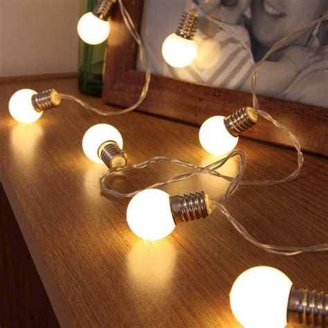 light bulbs and batteries mini festoon battery fairy lights 10 warm white leds