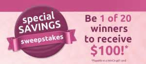 Winco Gift Cards - winco special savings sweepstakes win a 100 winco gift card