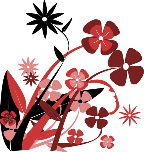decorative art flowers red flower border clip art clipart panda free clipart