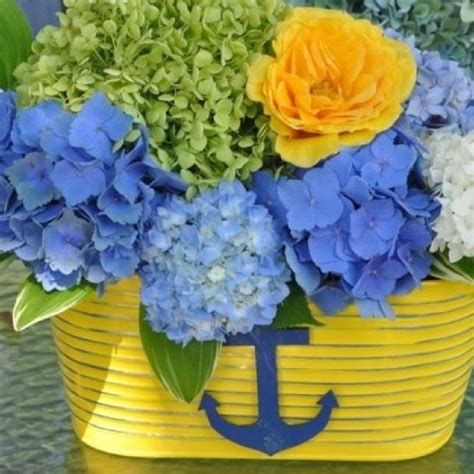 flower arrangement pictures with theme nautical theme flower arrangement shannon s nautical