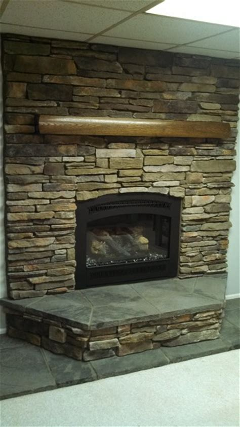 Brighton And Fireplace by Boral Cultured Southern Ledgestone Traditional