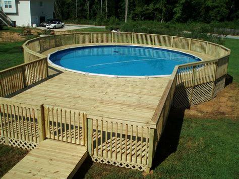simple  ground pool deck ideas tedxumkc decoration