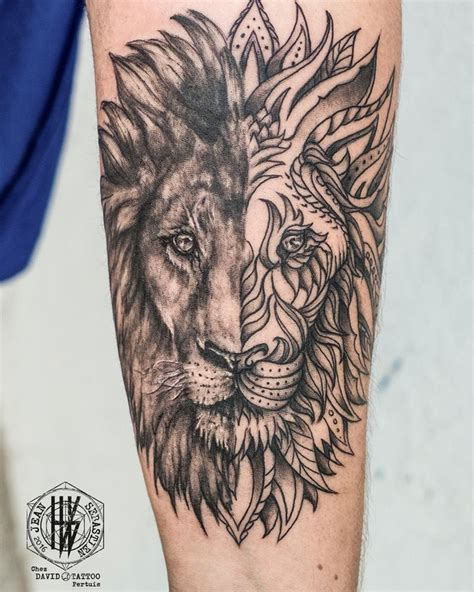 lion tattoo images ideas  pinterest lion arm tattoo lion thigh tattoo  husband