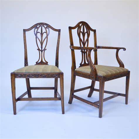 Hepplewhite Dining Room Furniture by Set Of 7 Hepplewhite Dining Room Chairs Carved