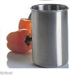 utensil holder stainless steel canister holding kitchen