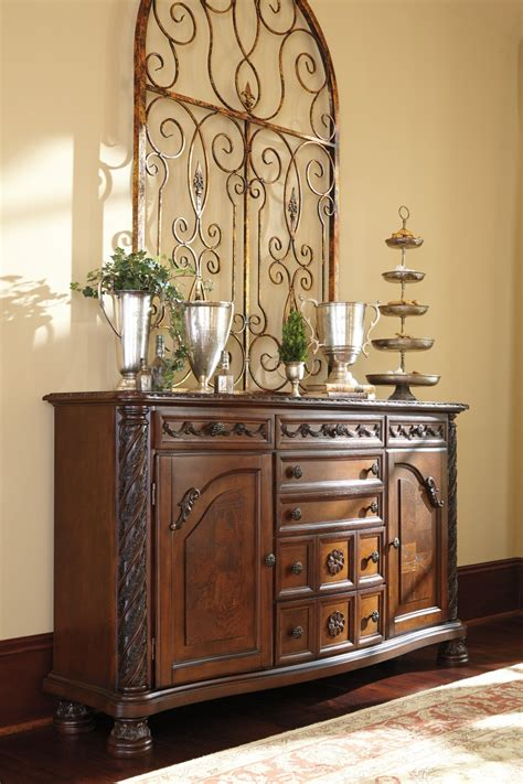 kitchen servers furniture d553 60 millennium by ashley north shore dining room
