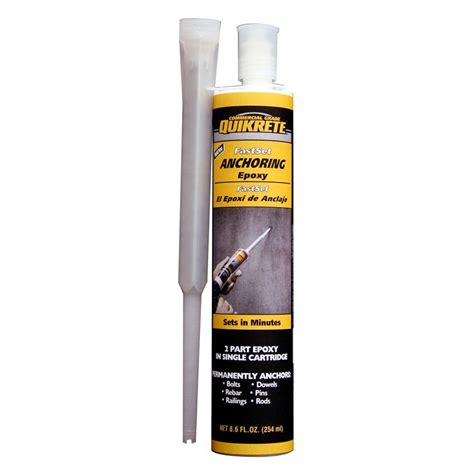 Kitchen Faucets Home Depot quikrete 8 6 oz fast setting anchoring epoxy 862030 the