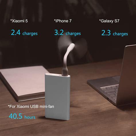 Trand Xiaomi Powerbank 2 10000 Mah Fast Charging Original Jv1365 xiaomi 10000mah mi power 2 fast charger power bank silver