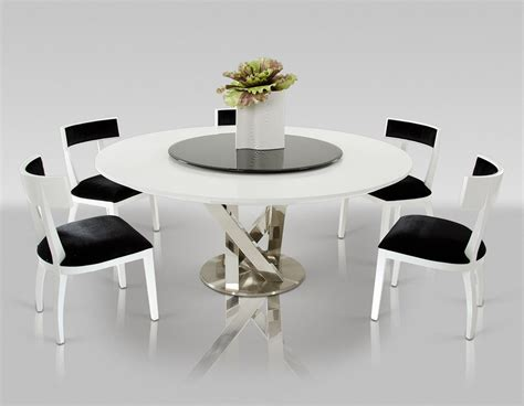 Dining Room Table Lazy Susan by Dreamfurniture Modern White Dining Table With