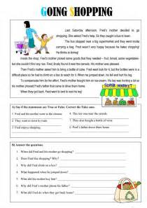 going shopping worksheet free esl printable worksheets