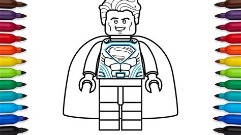 Wst 8592 Batman Print Top how to draw lego superman coloring pages of lego superman
