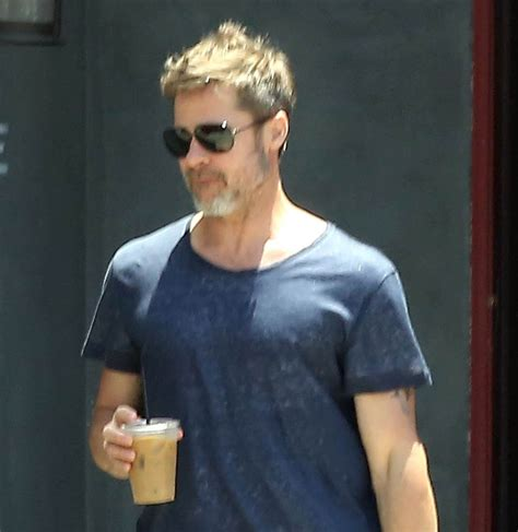 Pitt On by Brad Pitt Looks Fit While Leaving His Office In La
