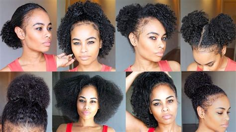 cute hairstyles for thick natural hair 10 quick easy natural hairstyles under 60 seconds for