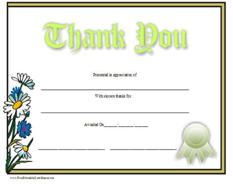 thank you certificates templates thank you certificate template free myideasbedroom