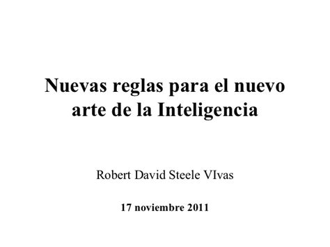 nuevo arte de la 05 nuevas reglas para el nuevo arte de la inteligencia 2011
