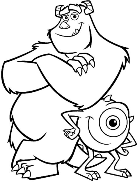 coloring sulley and mike picture printables pinterest