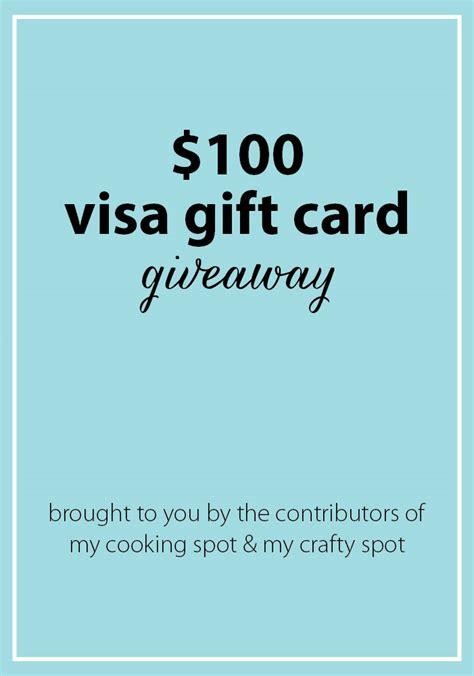 Visa Giveaway - 100 visa giftcard giveaway my crafty spot when life gets creative