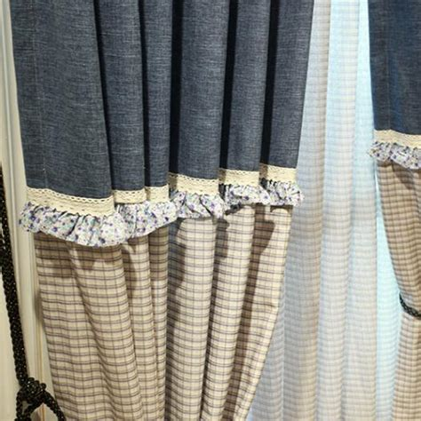 navy patterned curtains navy gingham lace patterned modern curtains