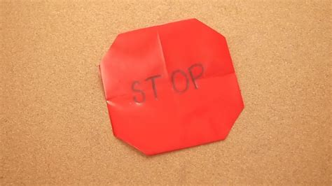 origami signs how to make an origami stop sign 6 steps with pictures