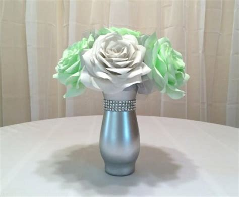 Mint Green Wedding Centerpiece, Bridal Table Centerpiece