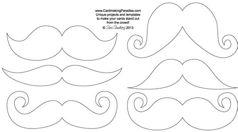 mustache print out template best photos of mustache outline template mustache