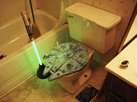 star wars bathroom ideas star wars bathroom toilet plunger millennium falcon