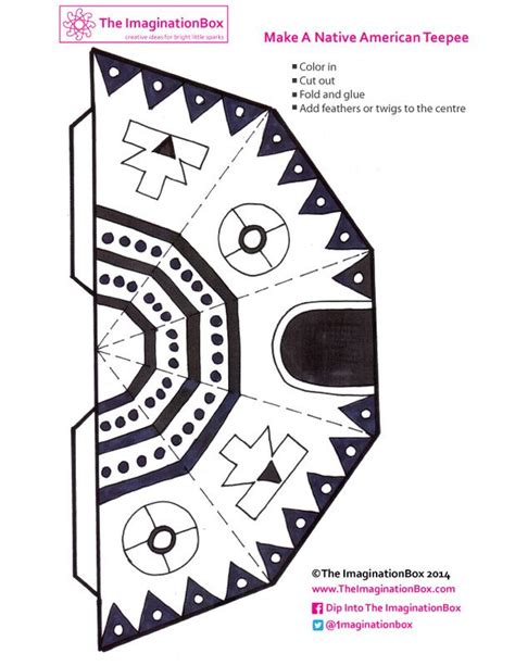 teepee template printable free teepee template pour les enfants for the kid s