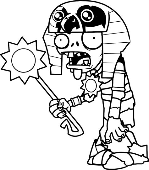 coloring page of a zombie original coloring pages plants vs zombies 2 egyptian