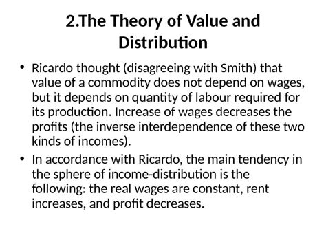 History Of Economic Thought history of economic thought lecture 3 i ricardo s