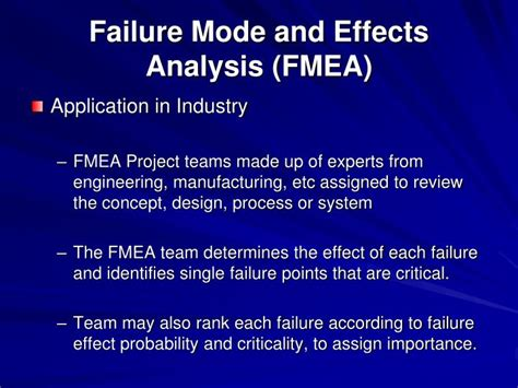 design failure mode effect analysis ppt ppt failure modes and effects analysis fmea r larson