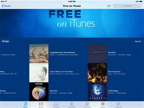 itunes free section apple offers free on itunes section for songs and tv shows