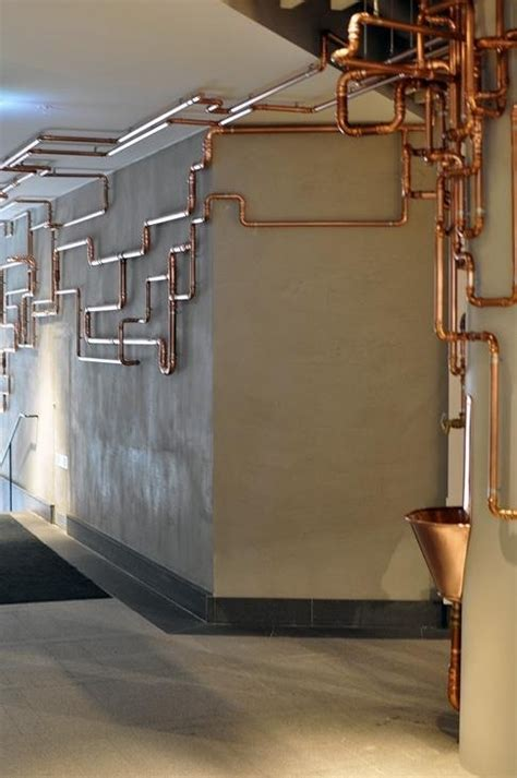 copper accents interior design ideas and decorating ideas for home decoration expose your copper pipes