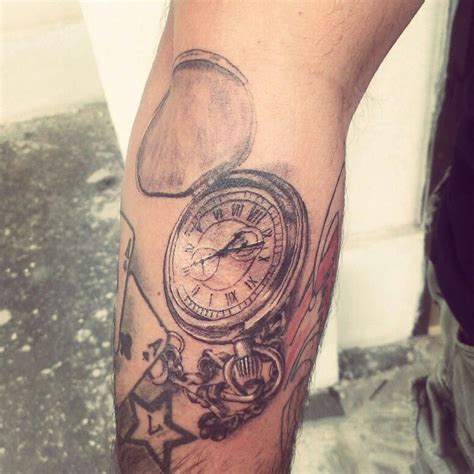old clock tattoo clock black and gray my works