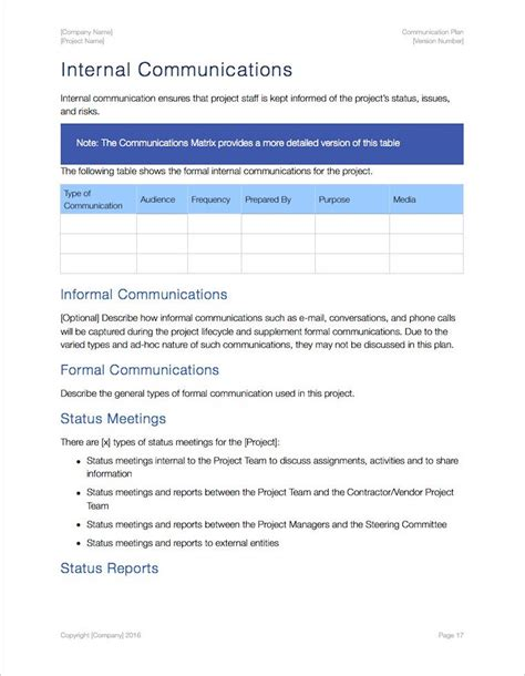comms plan template communication plan template apple iwork pages numbers