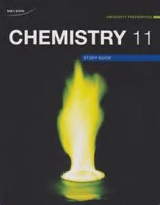 nelson chemistry 11 university preparation study guide